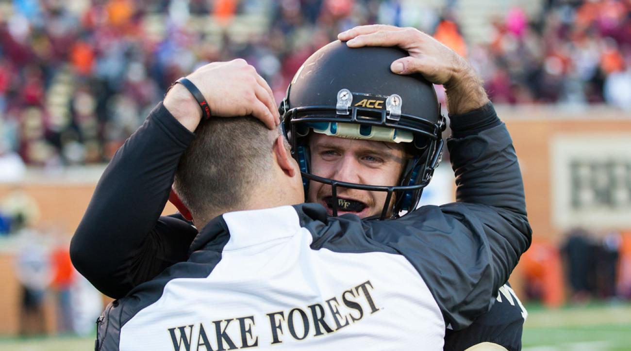 wake forest game winning field goal army video