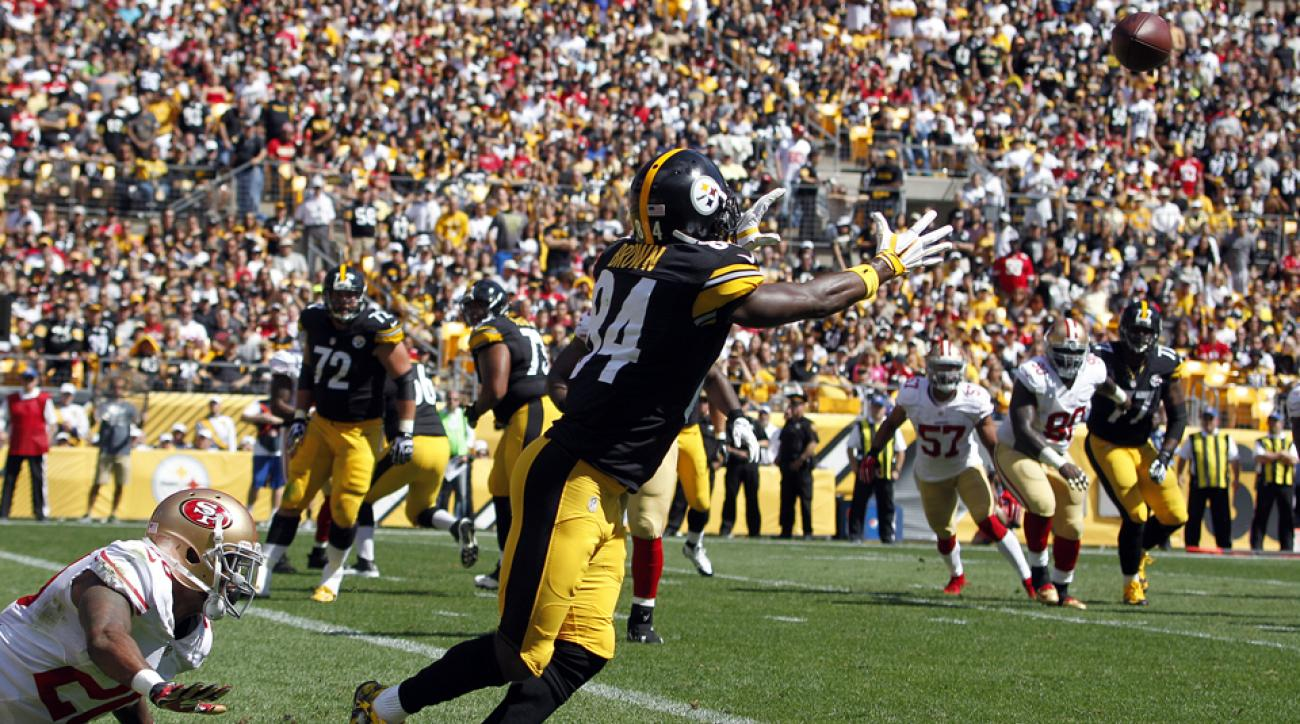 antonio brown pittsburgh steelers catch video