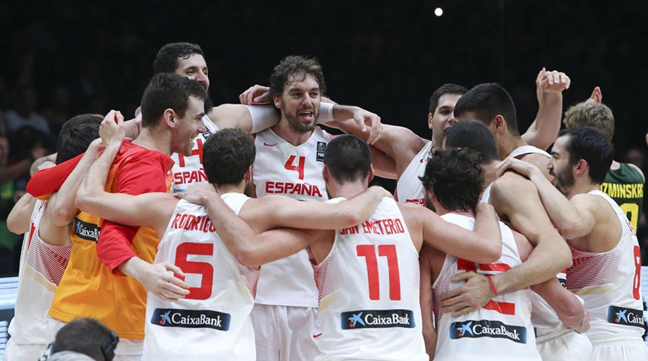 eurobasket spain lithuania gold medal pau gasol