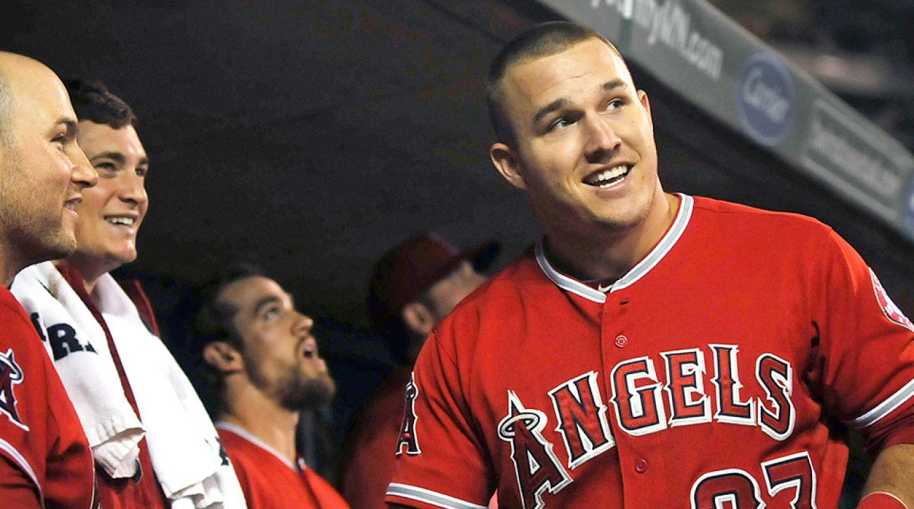 Mike Trout homered during the Angels' doubleheader sweep of the Twins.
