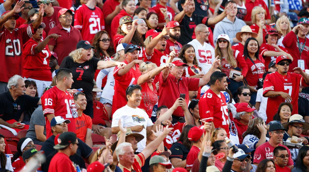 san francisco 49ers halftime alcohol sales halftime