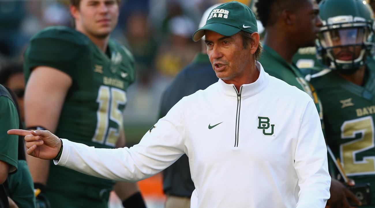 baylor football coach art briles no punishment assistant tulsa sideline