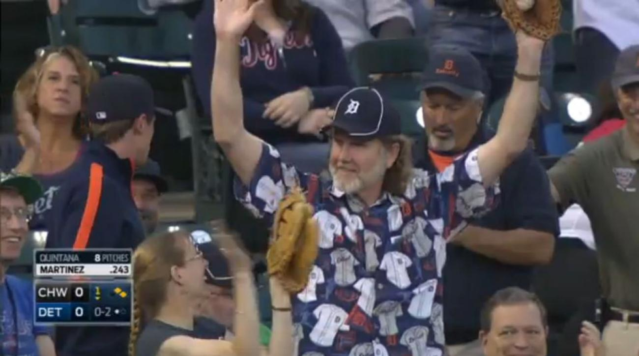 Detroit Tigers fan catches two foul balls in one game