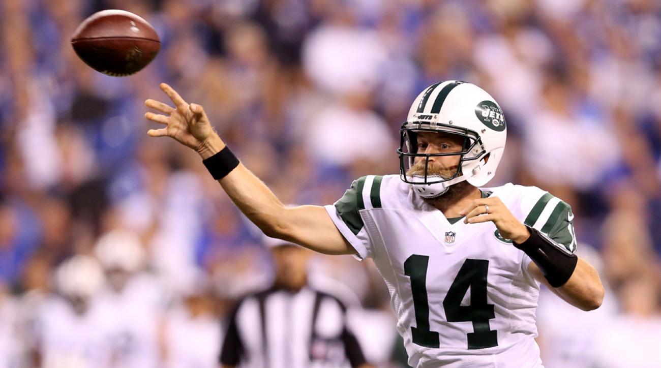 new york jets quarterback ryan fitzpatrick starter geno smith return