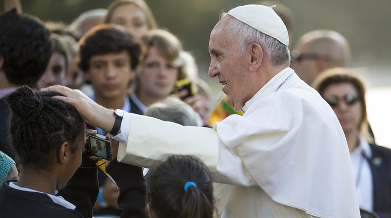 pope francis visit athlete name power ranking