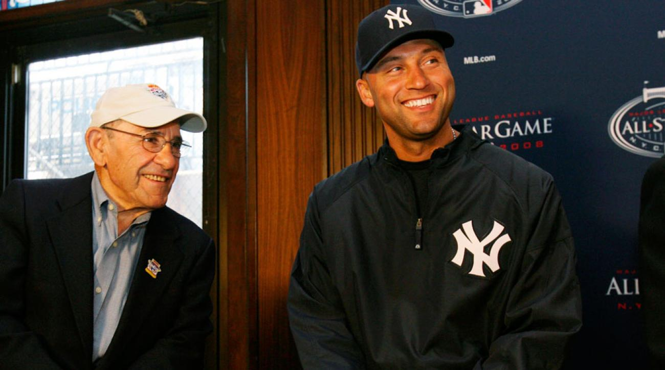 yogi berra derek jeter new york yankees remember tribute