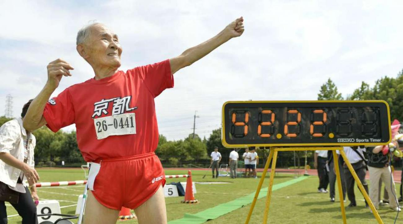 Hidekichi Miyazaki ran a competitive 100 meter dash at age 105