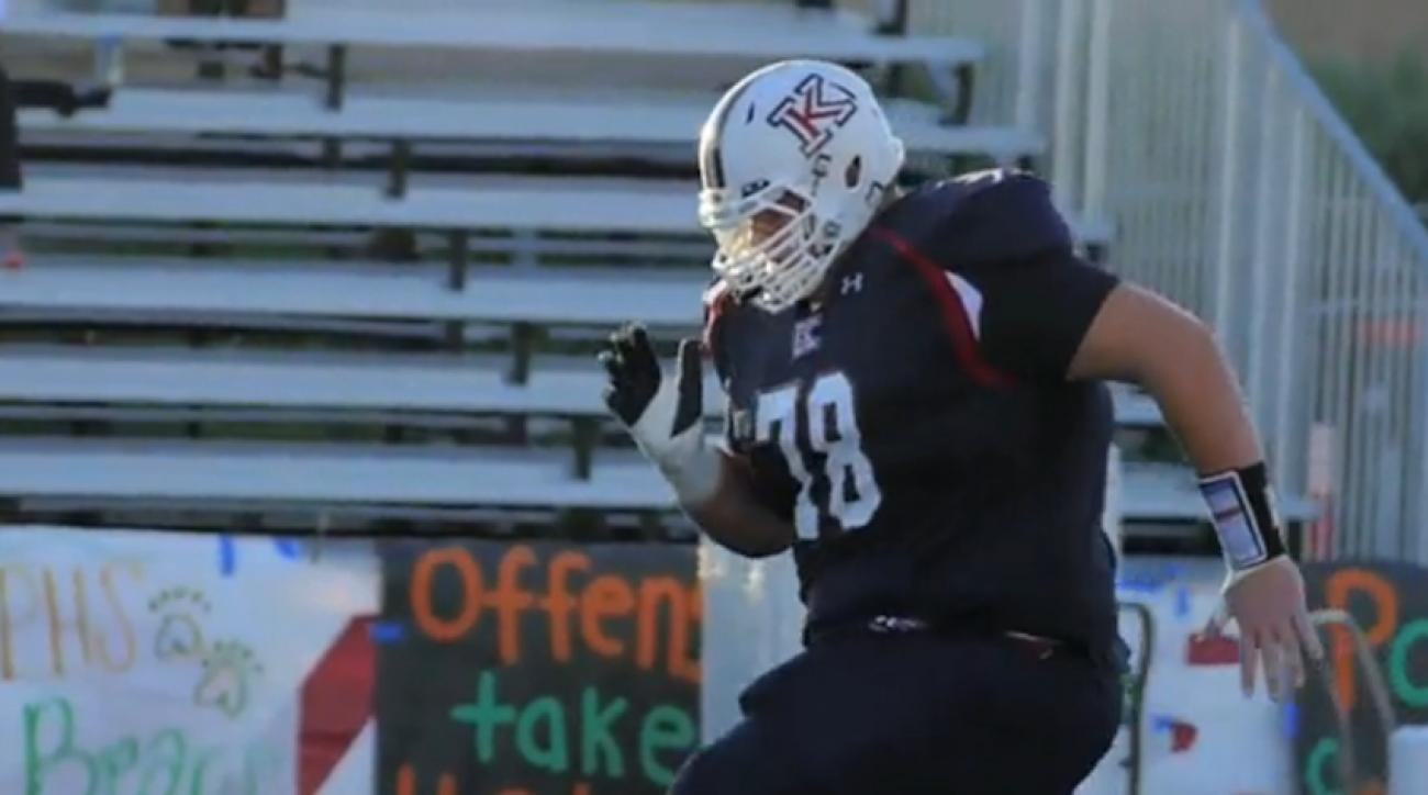 john krahn 7 foot 440 pound high school football player