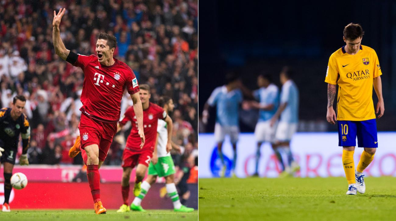 Robert Lewandowski, Lionel Messi experienced differing fortunes this week