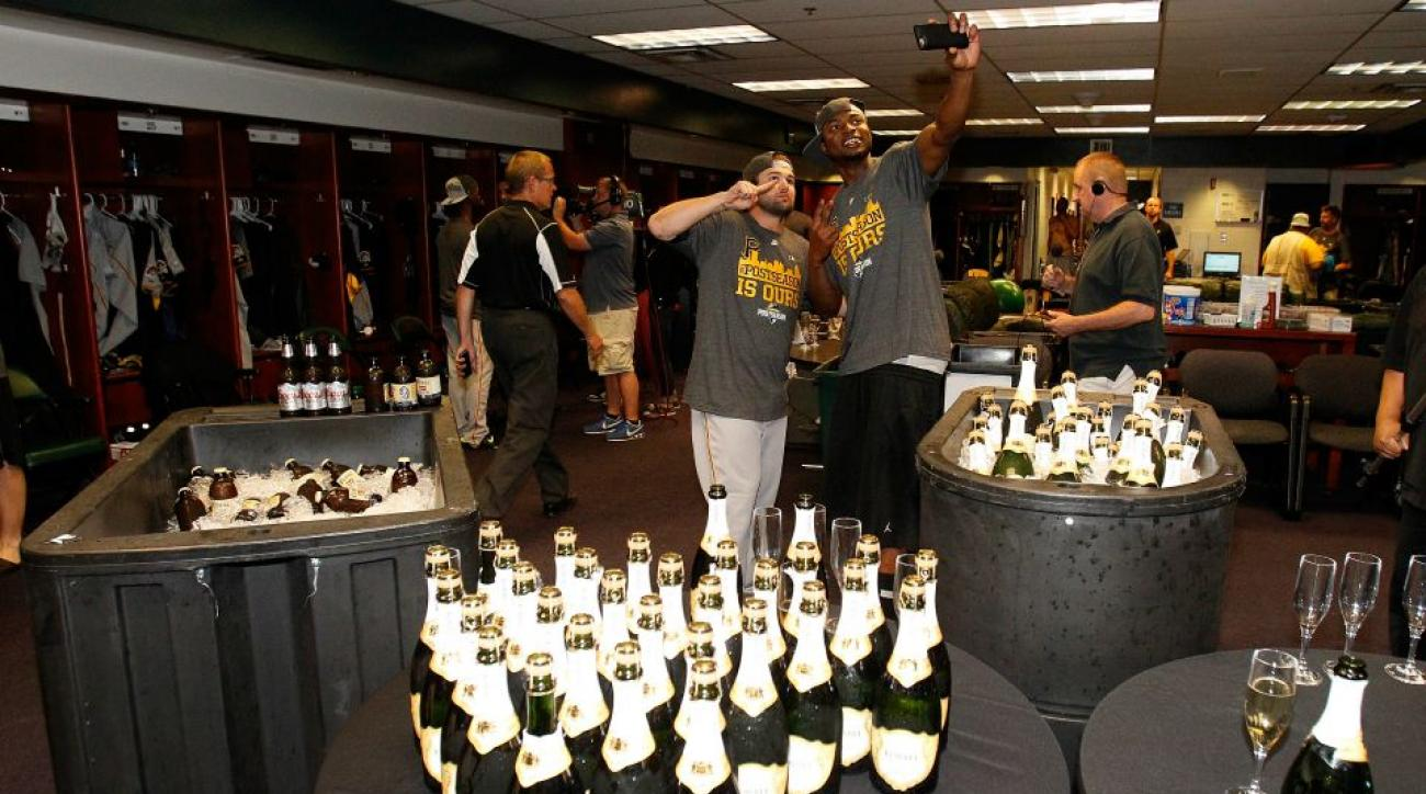 Pittsburgh Pirates celebrate playoff berth with help from Rockies