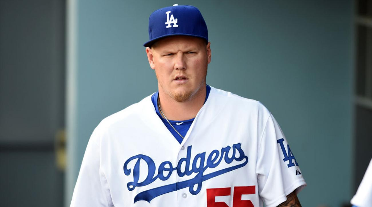 mat latos los angeles dodgers released