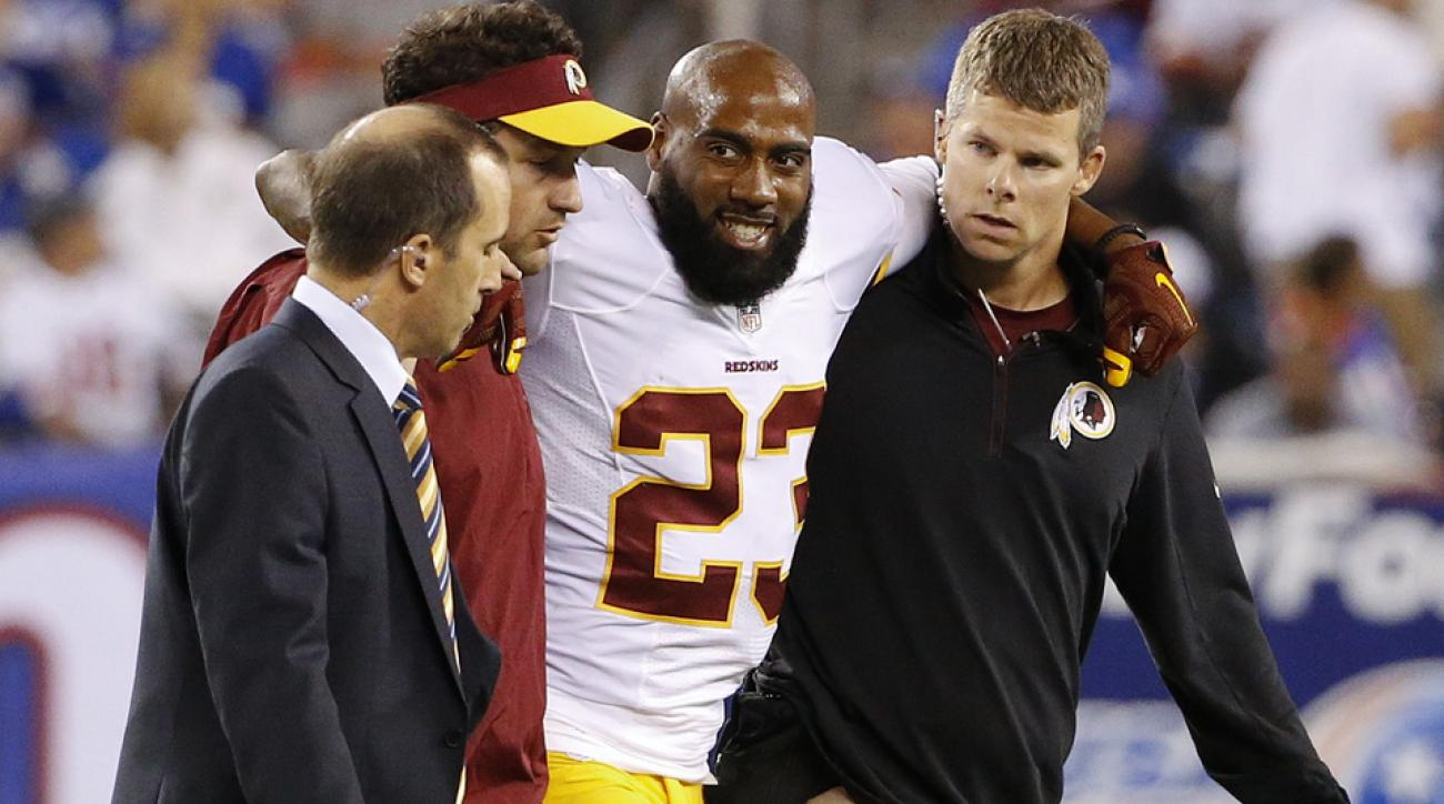 washington redskins deangelo hall mri toe injury giants