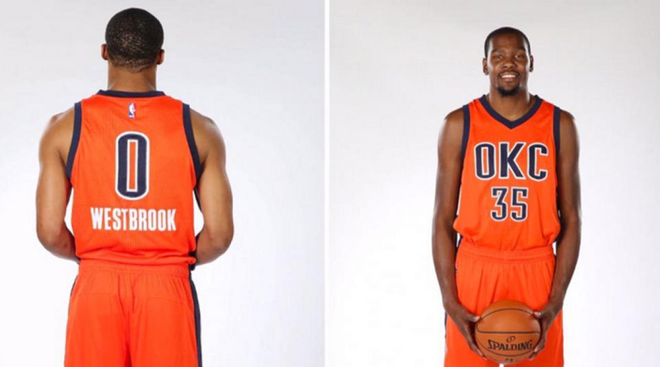new product f174c 845f4 Oklahoma City Thunder unveil orange alternate jerseys   SI.com