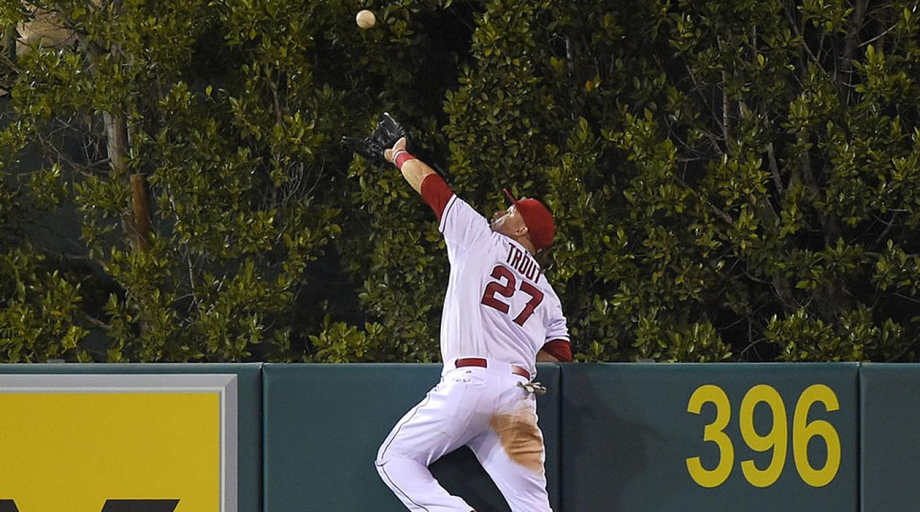 mike trout robs home run angels video