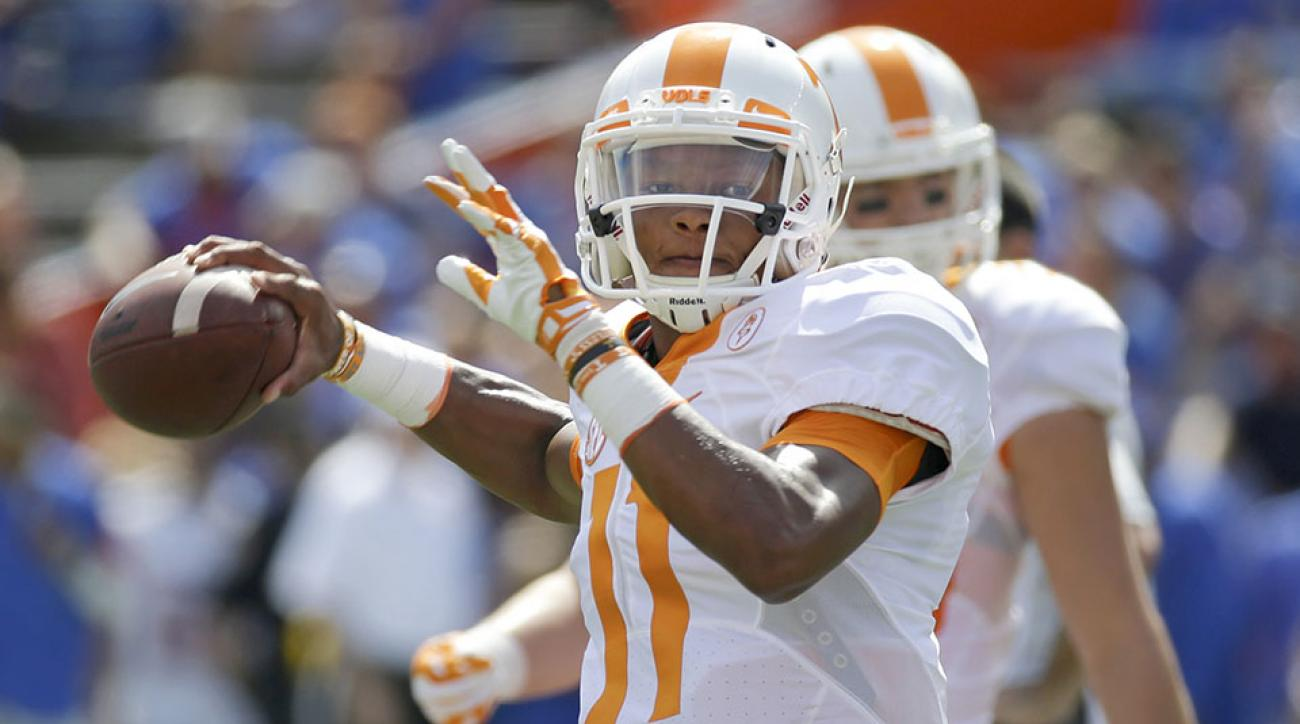 tennessee florida trick play pass touchdown josh dobbs video