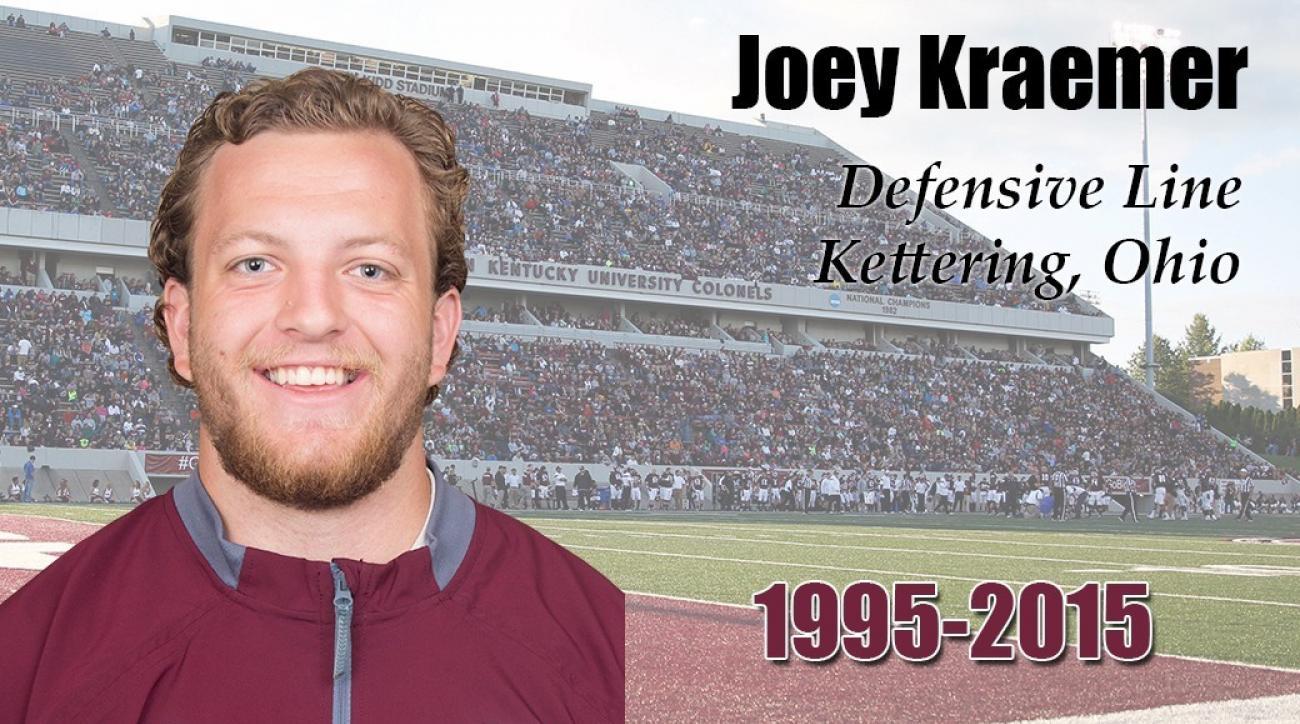 joey-kraemer-eastern-kentucky-football-player-dies-car-accident