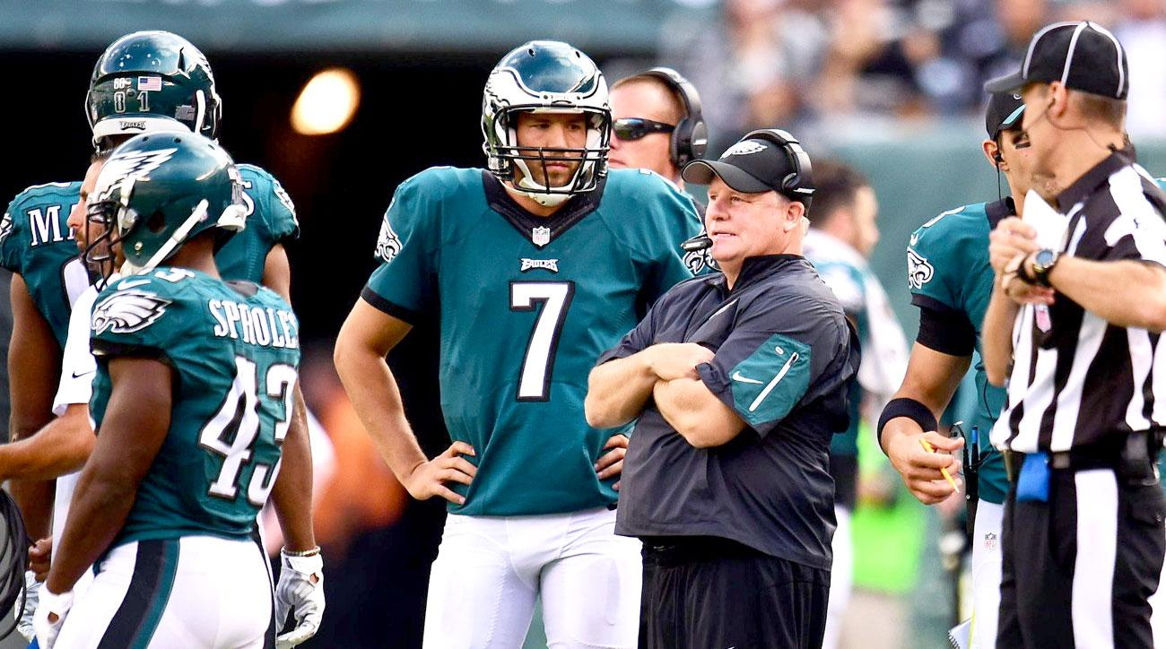 Sam Bradford and Chip Kelly against the Jets in Week 3