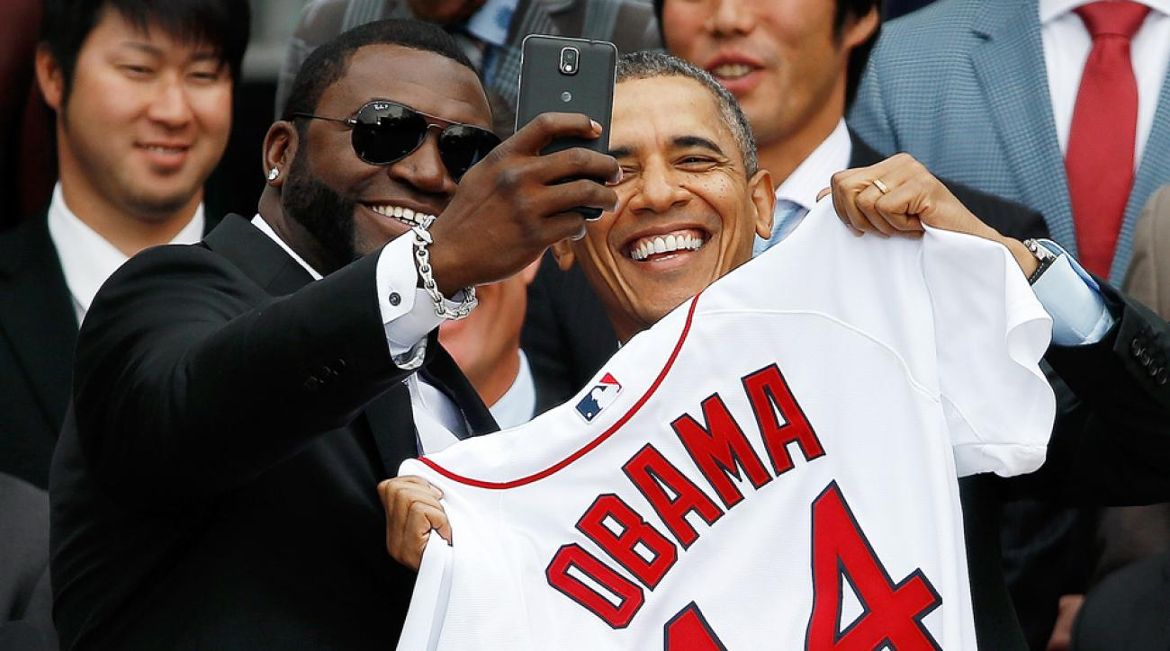 president obama boston red sox