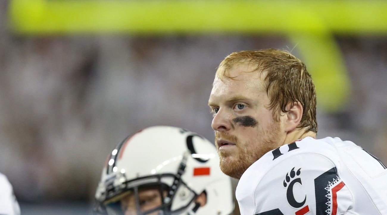 gunner kiel cincinnati bearcats out neck injury