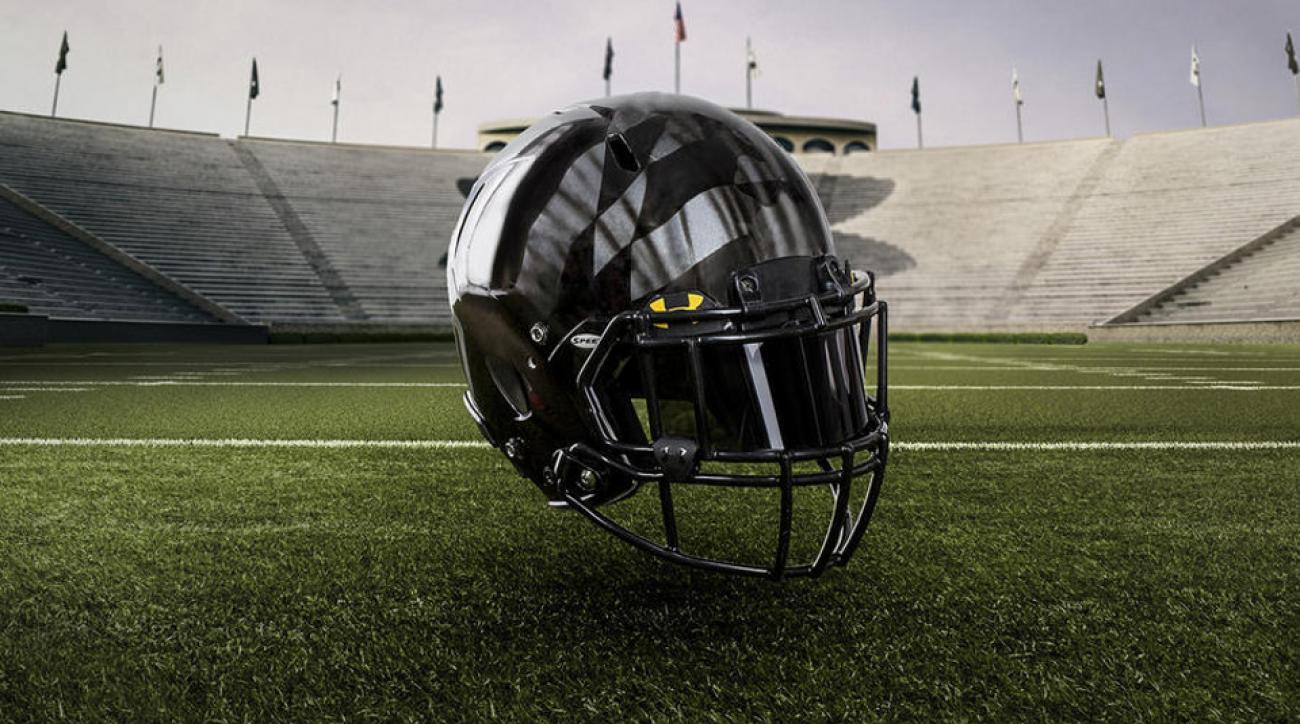 maryland michigan football helmet black ops