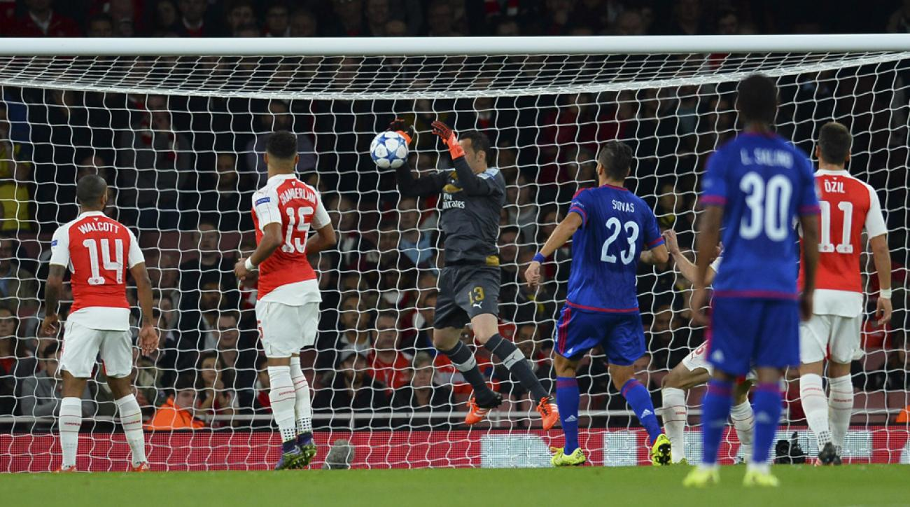 David Ospina's own goal for Arsenal in Champions League