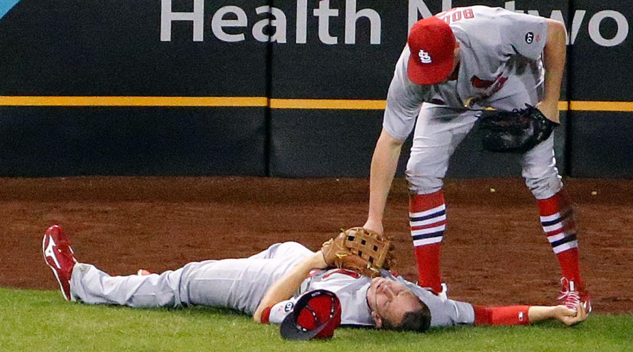 Stephen Piscotty st louis cardinals collision injury update