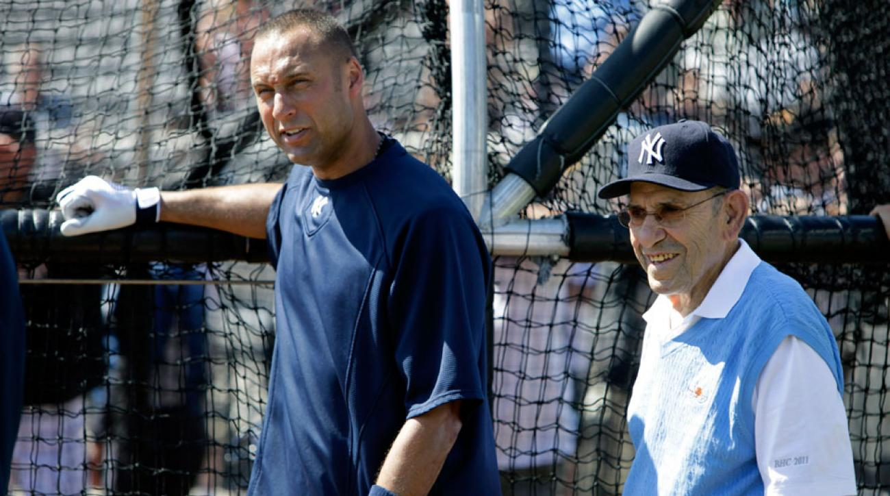 yogi berra derek jeter new york yankees tribute funeral