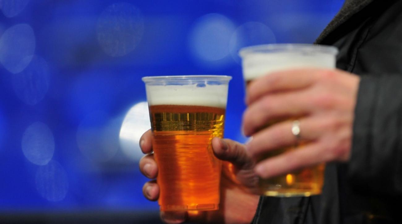 Danish Soccer player chugs beer after scoring goal