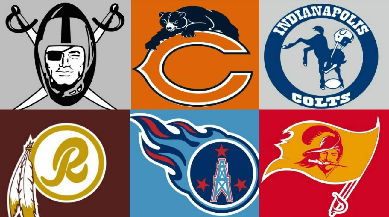 NFL Logo Mashups Gallery, Past meets present