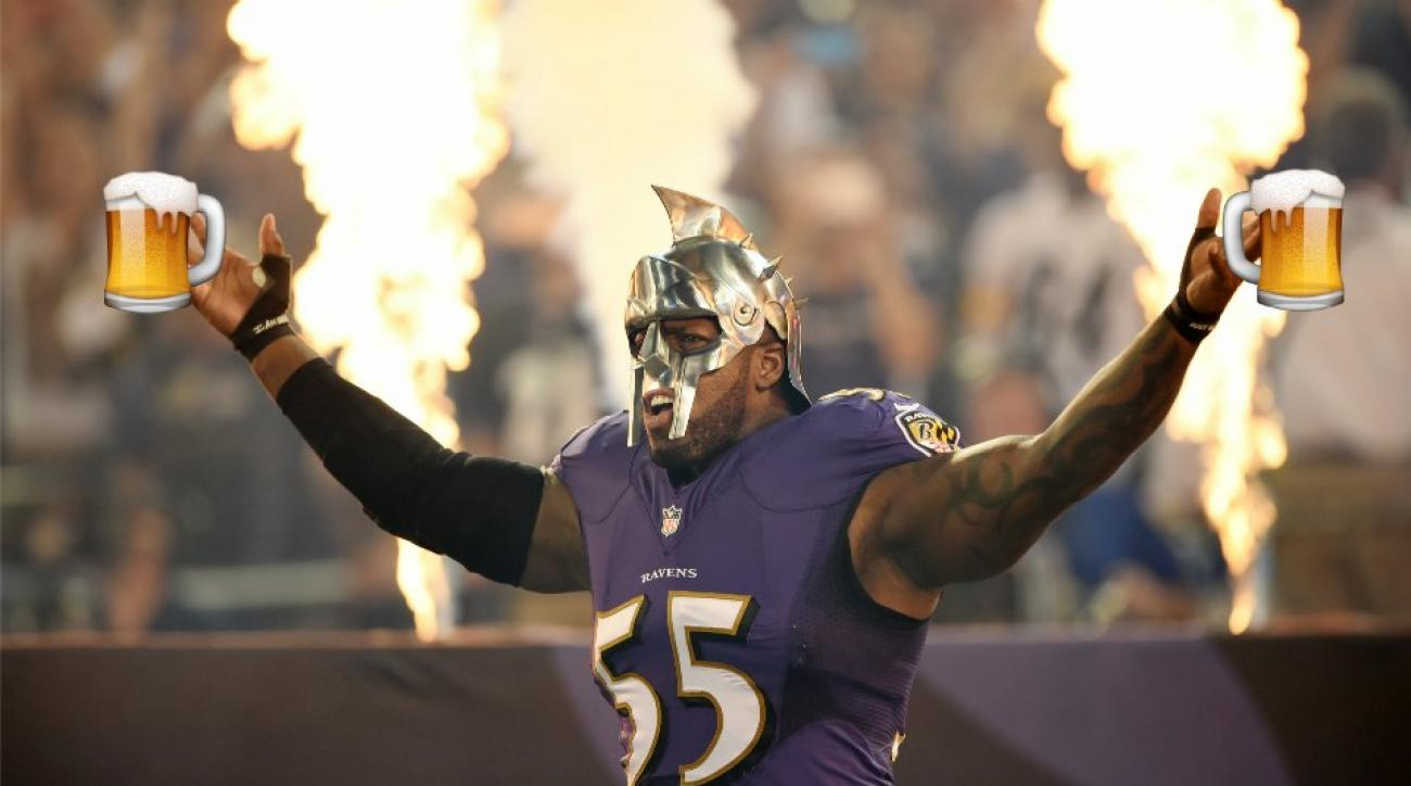 Baltimore Ravens-Pittsburgh Steelers Thursday night football drinking game