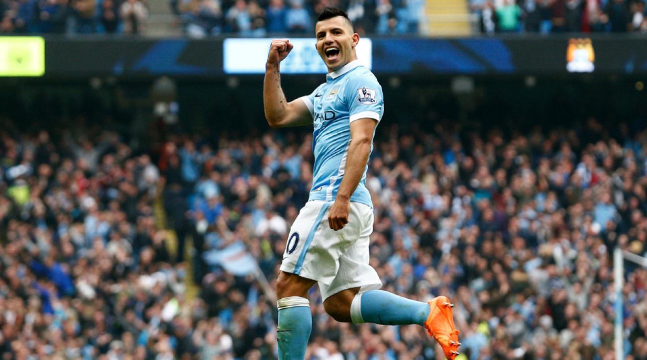 man city sergio aguero video record five goals 20 minutes