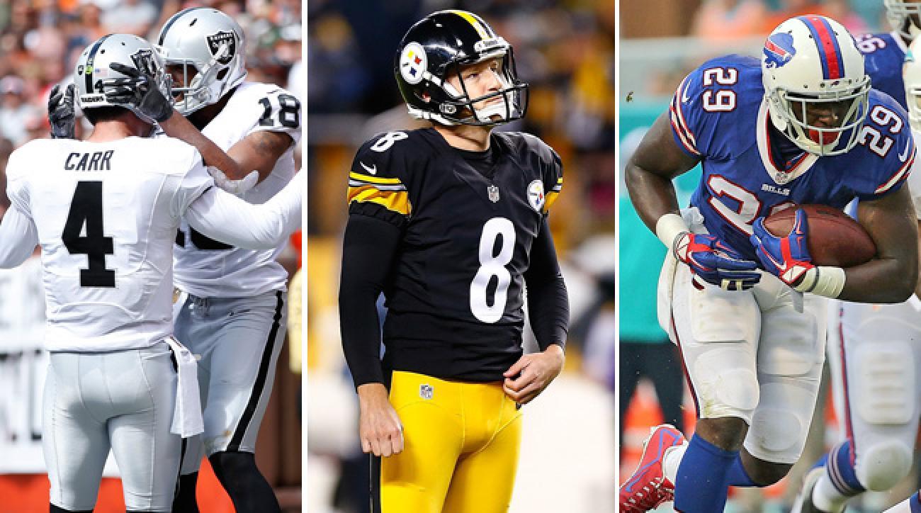 Derek Carr and the Raiders under Reggie McKenzie, Steelers cut kicker Josh Scobee, Karlos Williams in the 2015 draft