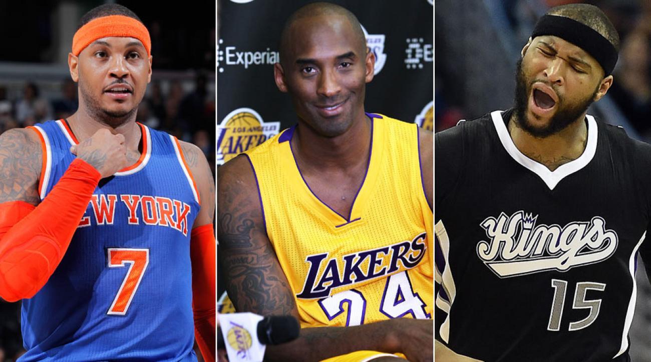 Carmelo Anthony, Kobe Bryant, DeMarcus Cousins