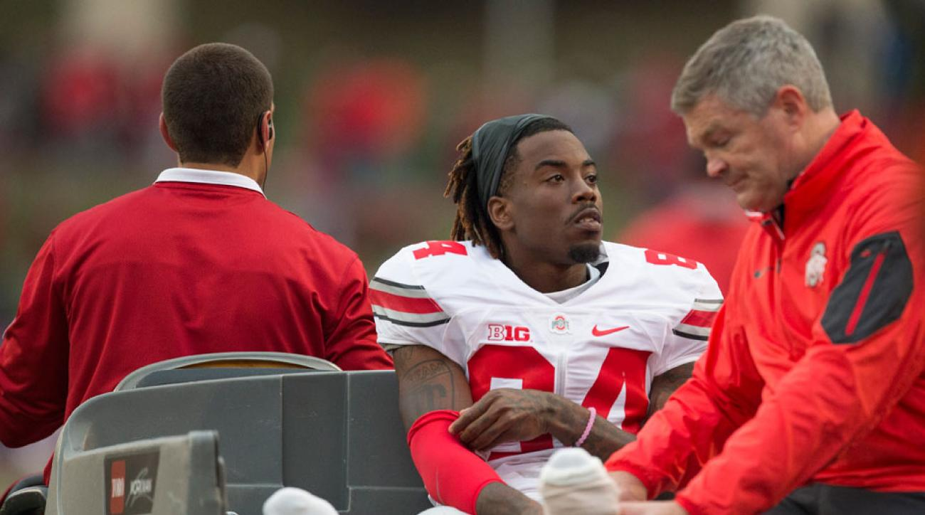 Ohio State wide receiver out with leg injury
