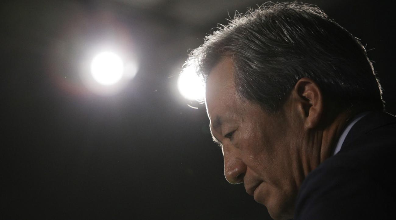 fifa presidential candidate chung suspension world cup bid ethics violation