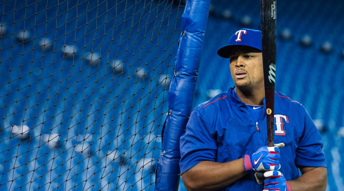 adrian beltre injury playoffs rangers leaves game