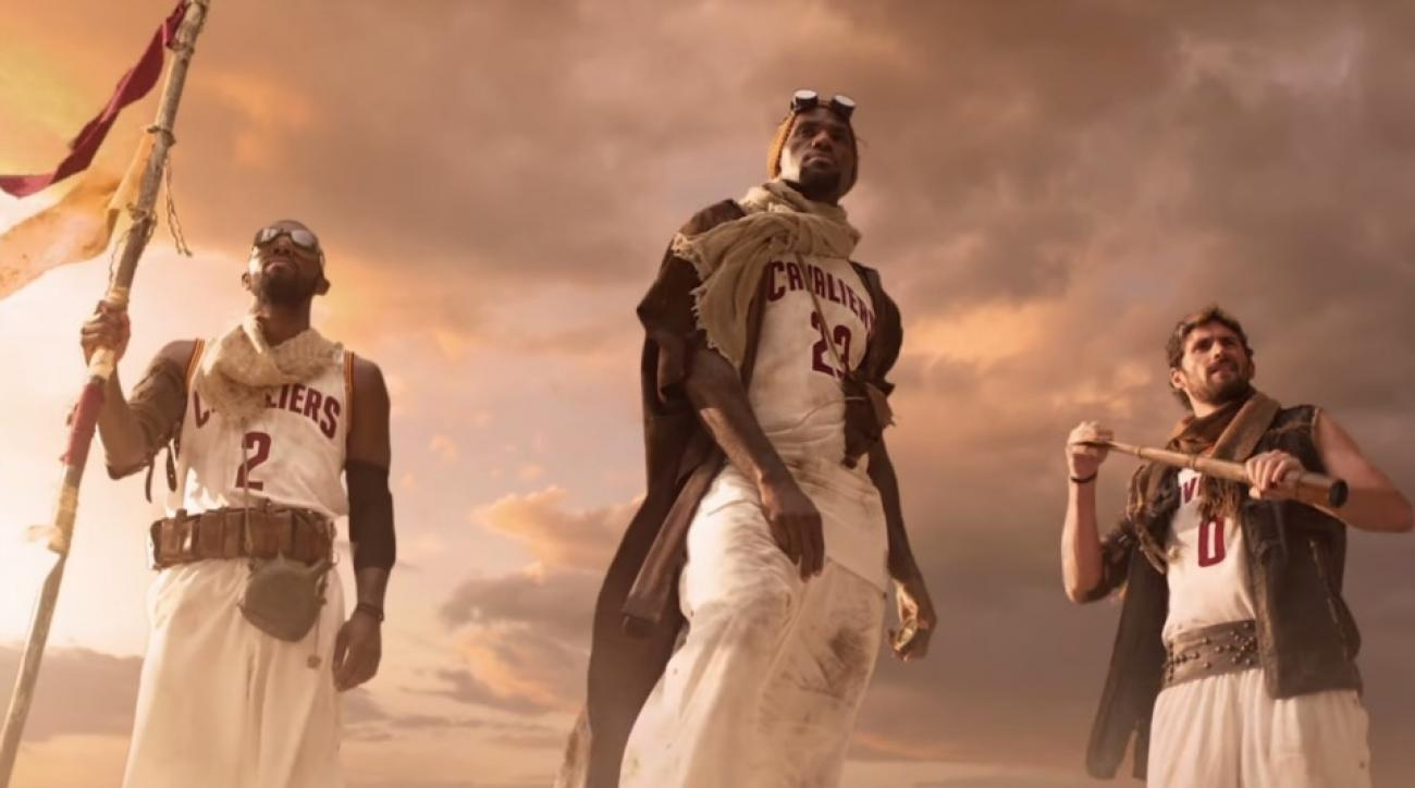 Cleveland Cavaliers star in desert Quest commercial