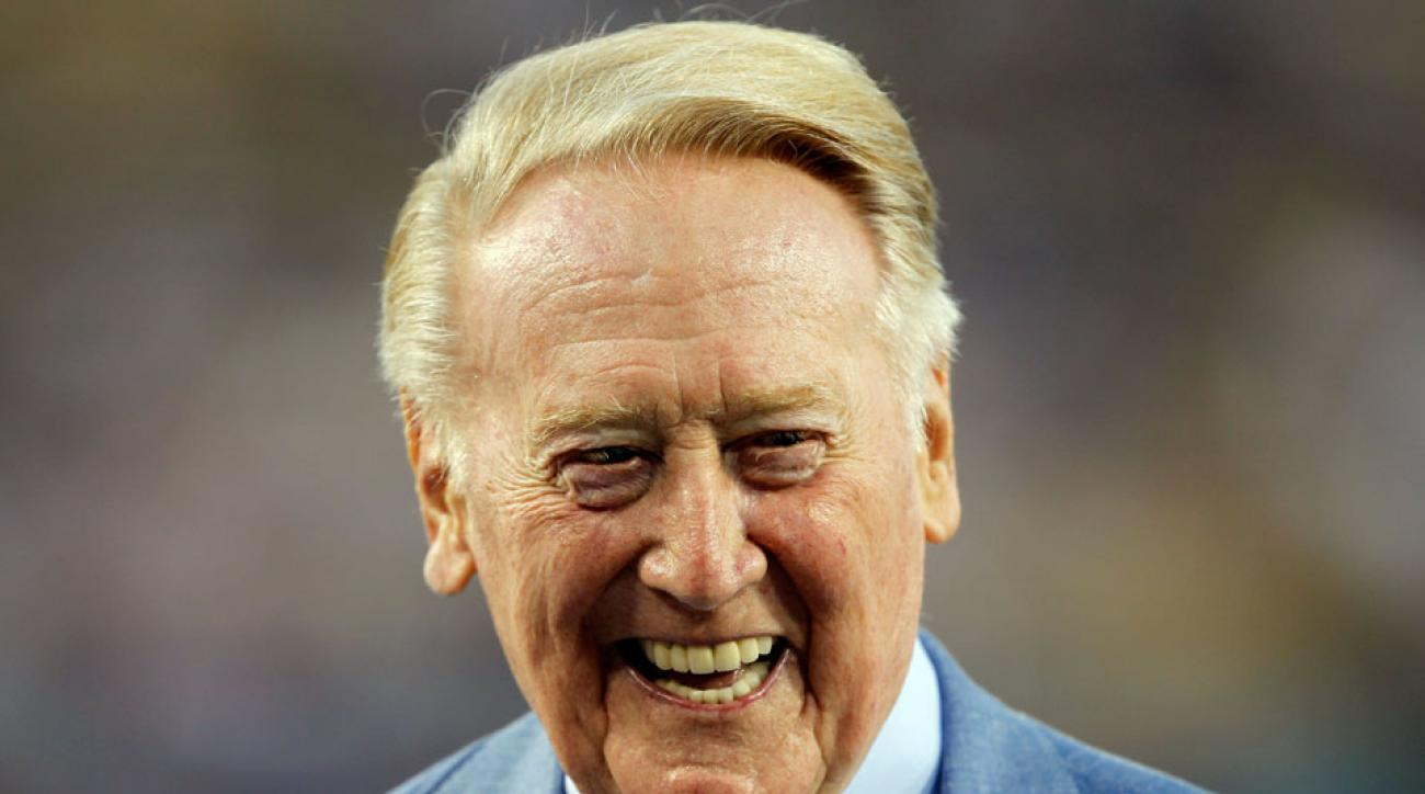 Vin Scully will not broadcast postseason after medical procedure