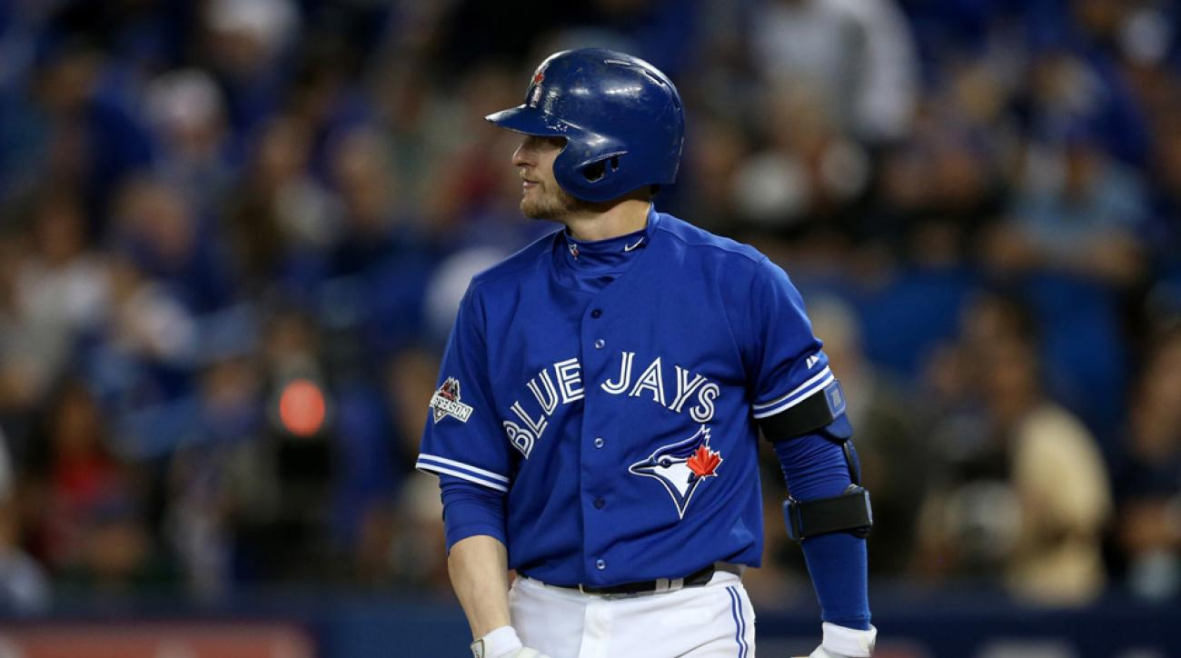 josh donaldson benches clear blue jays rangers video