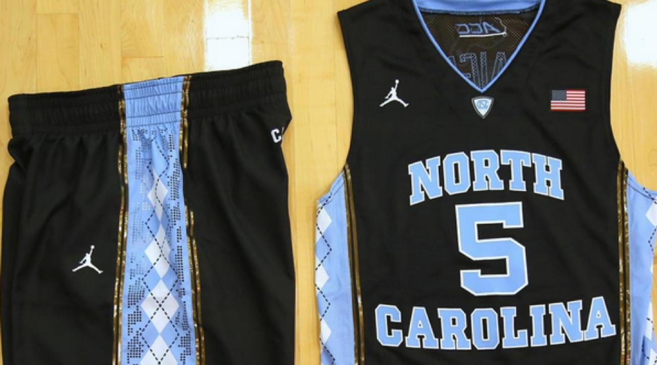 North Carolina Basketball Tar Heels Wearing Black