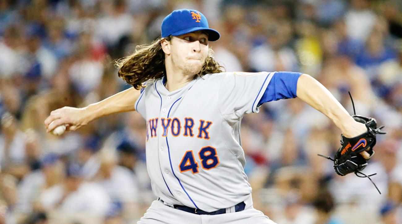 Jacob deGrom, New York Mets beat Los Angeles Dodgers in Game 1 of NLDS.