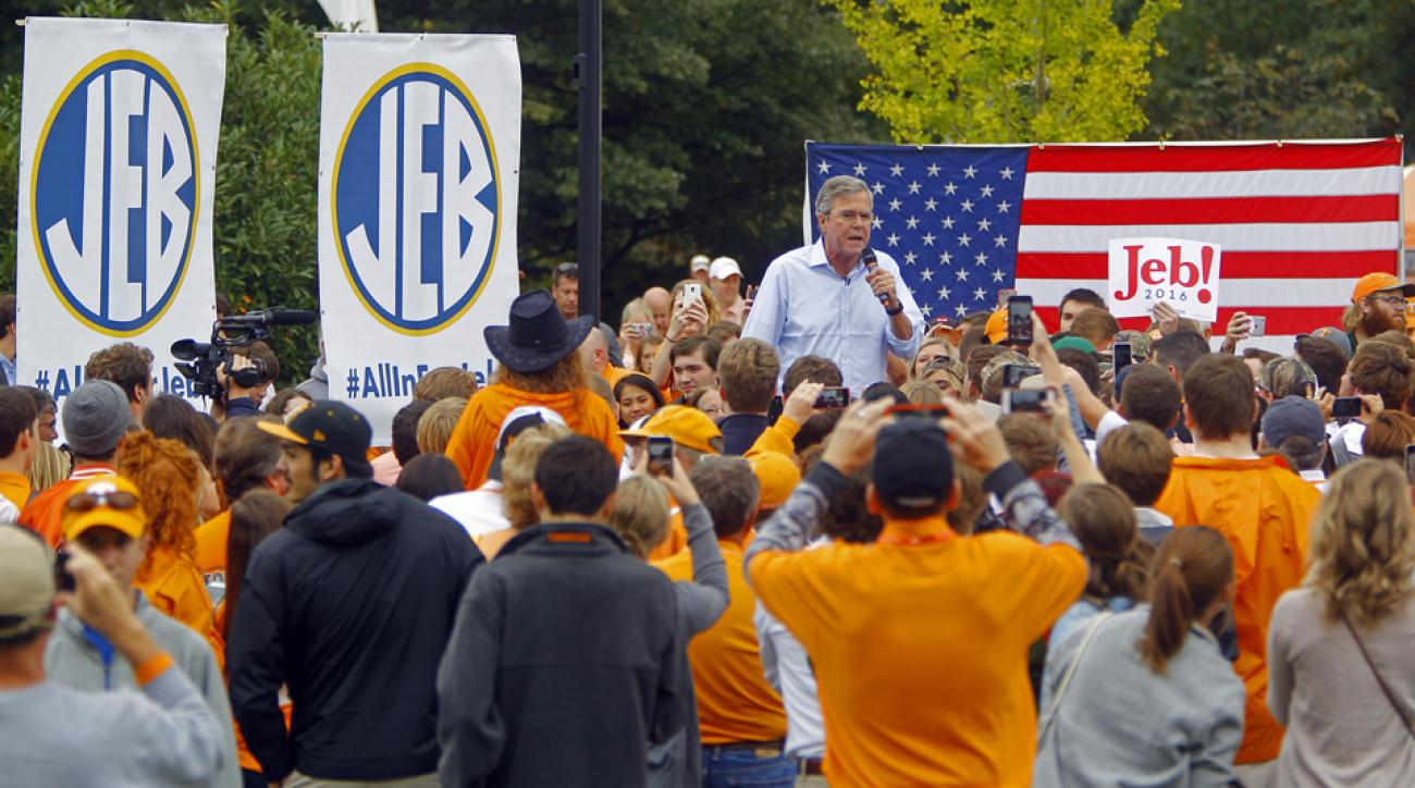 jeb bush college football tailgate georgia tennessee