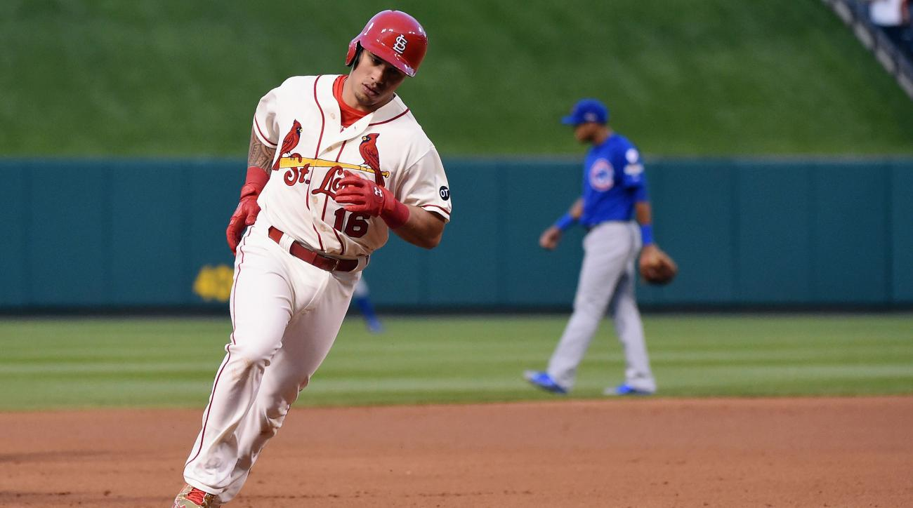 wong grichuk back cardinals cubs playoffs
