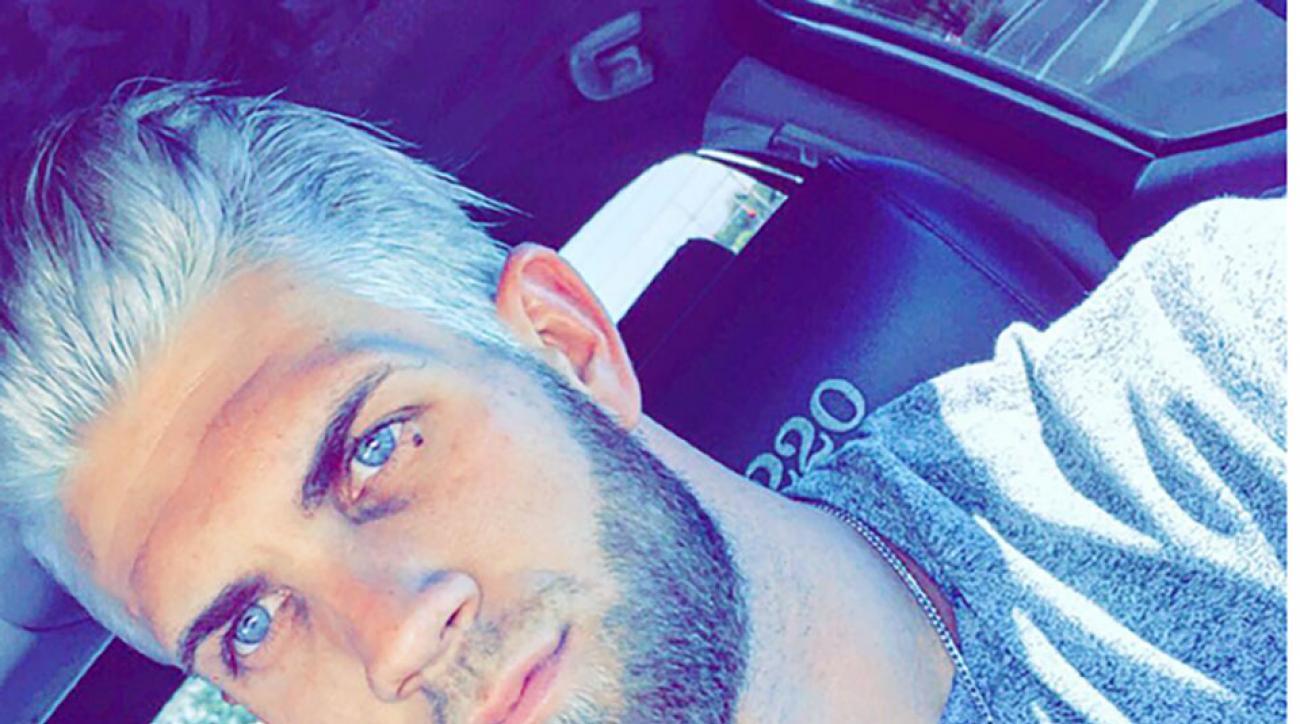 Washington Nationals Bryce Harper dyed hair white