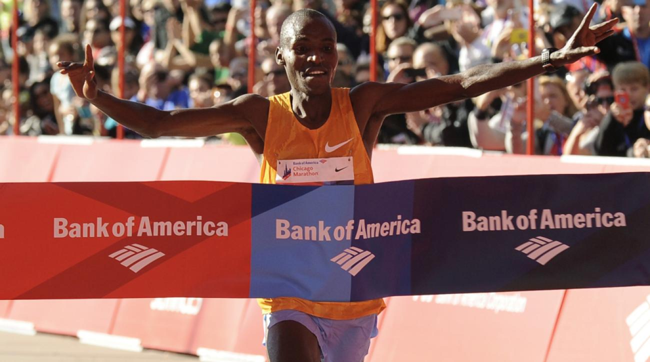 2015 chicago marathon results video recap dickson chumba