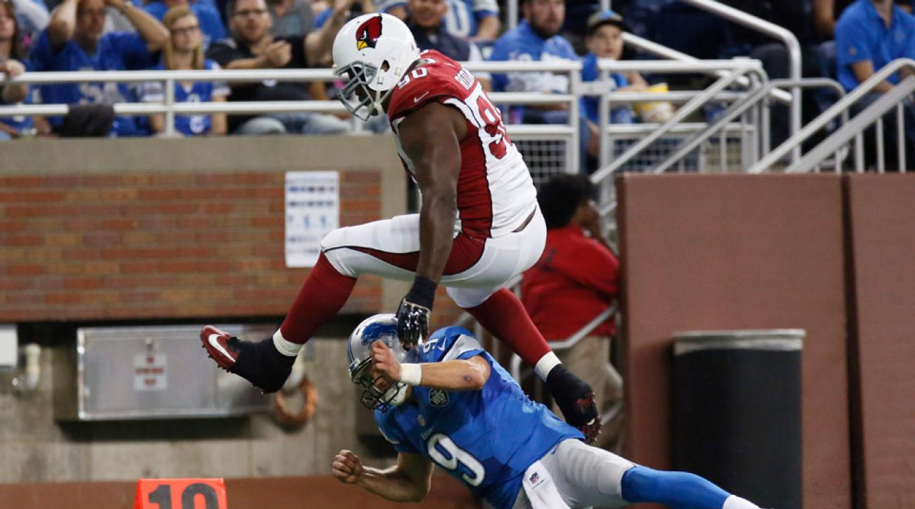 arizona cardinals detroit lions cory redding interception