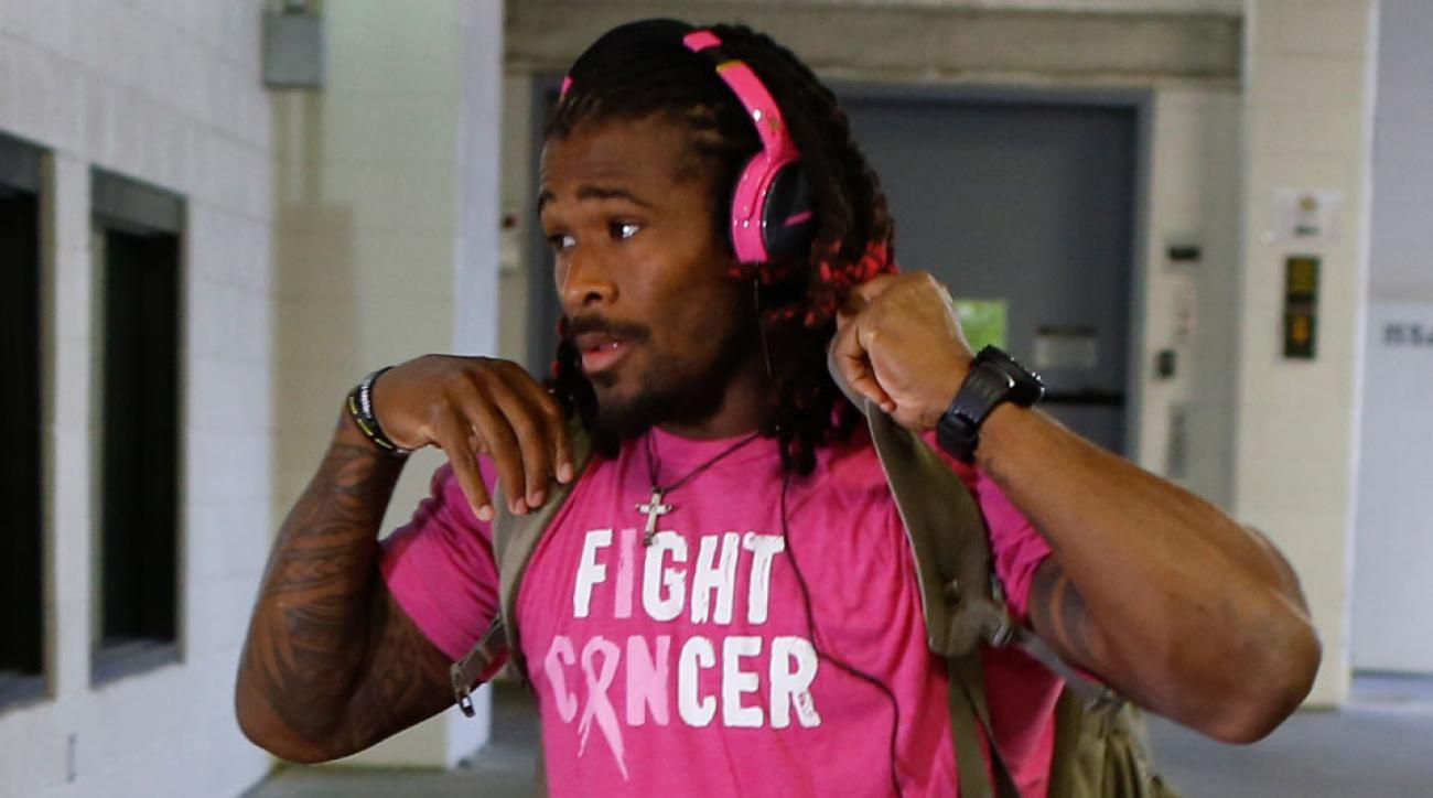 deangelo williams pink breast cancer nfl request denied