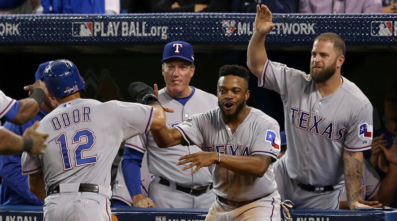 toronto blue jays beat texas rangers behind wild seventh inning