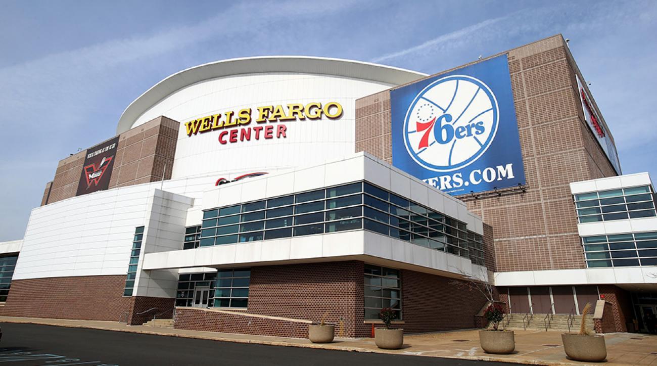 philadelphia 76ers wells fargo court logo