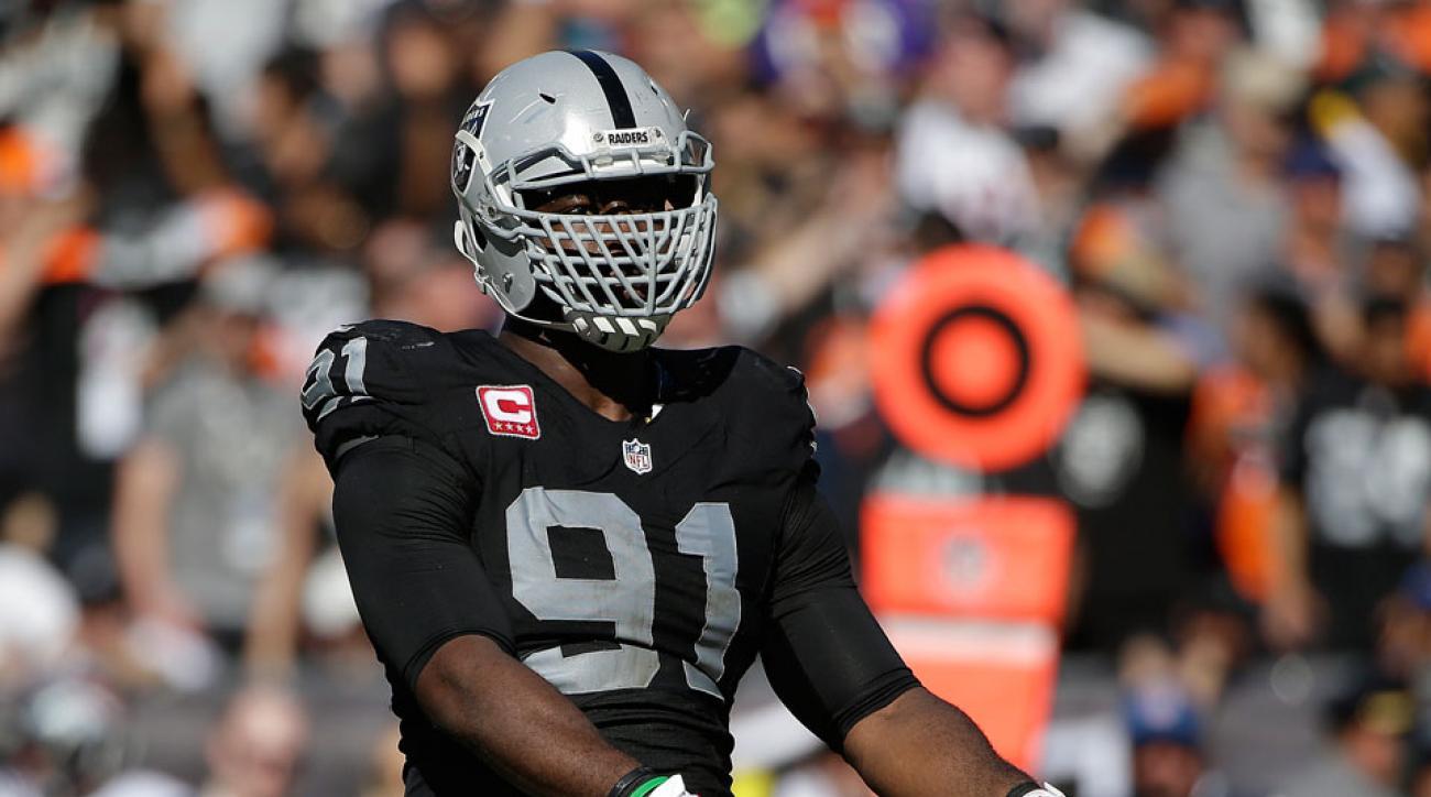 Oakland Raiders defensive end Justin Tuck injury update